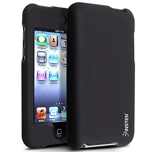 - Insten Snap-On Rubber Coated Case for iPod touch 2G/3G (Black)