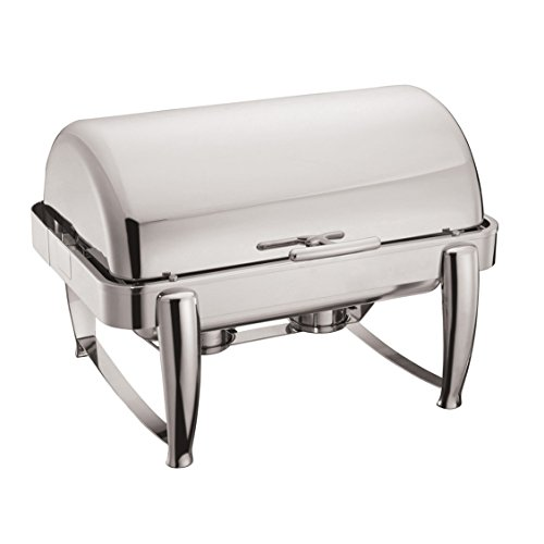 Winware 8-Quart Oblong Roll Top Chafer, Full Size Stainless Steel Chafing Dish (Roll Oblong Chafer Top)