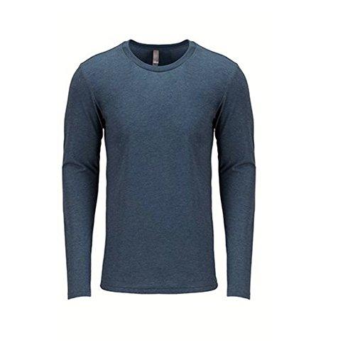 Next Level Men's Performance Blended Long Sleeve Jersey, Large, Indigo