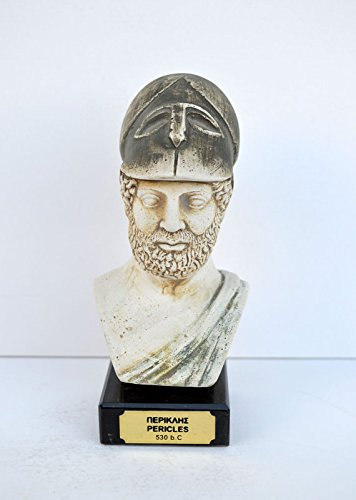 Ancient Greek Pericles statesman, orator and general of Athens sculpture bust by Estia Creations