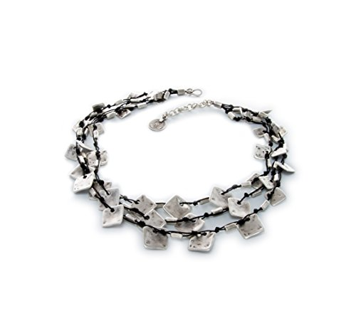 Fashion Jewelry 2017 Collection - Silver plated antique hand crafted - Necklace 19'' to 20'' length - 1033 by Florida Creator