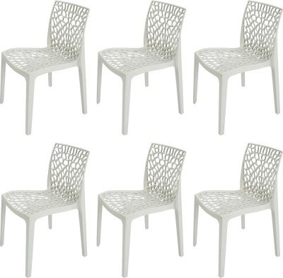 Mavi Off White Outdoor Chair Set of 6 (MEC-3)