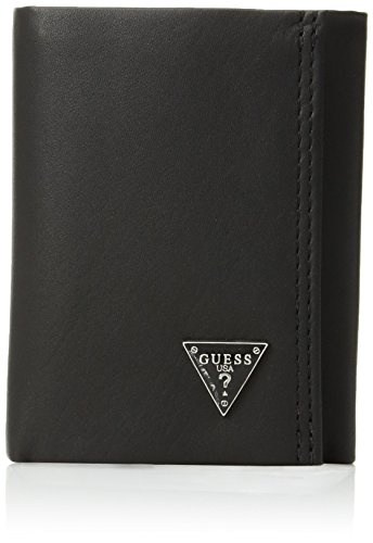 Guess  Men's  Leather Trifold Wallet,Black ()