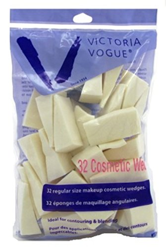 Victoria Vogue Cosmetic Wedges 32 Count Regular Size (3 Pack)