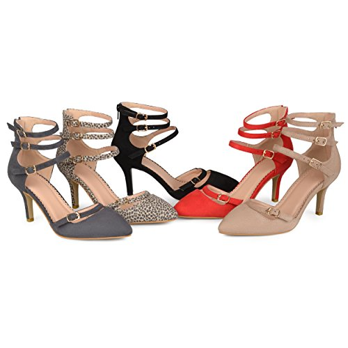 Picture of Brinley Co. Womens Pointed Toe Faux Suede Multi-Strap High Heels