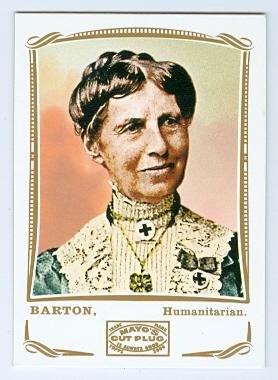 Mayo Cross - Clara Barton trading card (Red Cross Founder) 2009 Topps Mayo #144