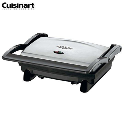 Cuisinart GR-1FR Griddler Panini and Sandwich Press, Stainless Steel - (Certified Refurbished) (Cuisinart Grill And Panini Maker Gr 11)