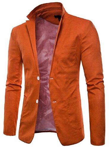 Rivestimento Di Premium D'alta Giacche Di Moda Un Vestito Affari Sicurezza Del Del Sportive 1 Fit Tasto Del Slim Mens Cappotto aqRF1a