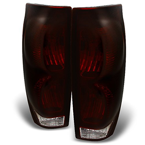 For Chevy Avalanche 1500 2500 Dark Red Tail Lights Tail Lamps Driver + Passenger Side Replacement Pair