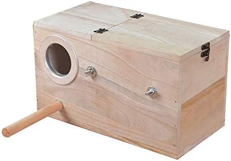 Zengqhui Cama del Perro Caja de Nido de Periquito for Mascotas Bird House Budgie Wood Breeding