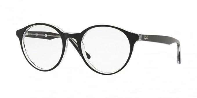 Ray-Ban Unisex-Erwachsene Brillengestell RX6404, Schwarz (Negro), 54