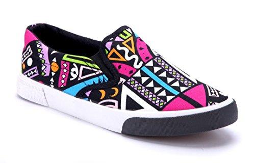 Flach Schwarz Sneaker Schuhtempel24 Damen Schuhe Low CqYIwgn4x