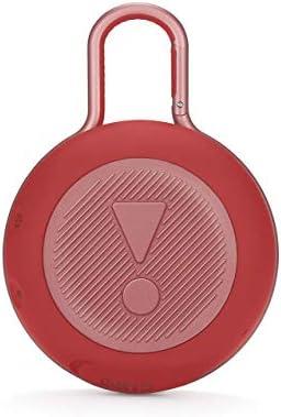JBL K951508 Clip 3 – Enceinte Bluetooth Portable avec Mousqueton – Étanchéité IPX7 – Autonomie 10hrs – Qualité Audio JBL – Bluetooth, Rouge