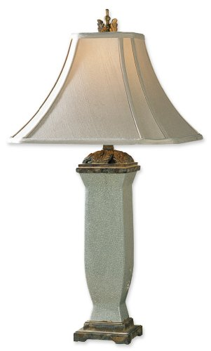 Uttermost 32-Inch Tall Reynosa Table Lamp (Linen Uttermost Table Square Lamp)