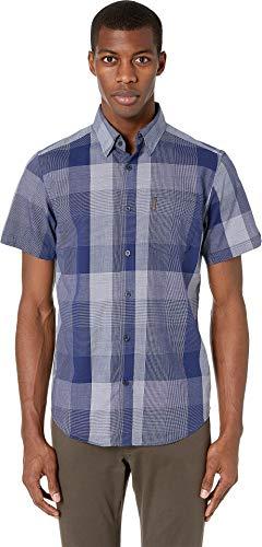 Ben Sherman Men's SS Exploded Check Shirt, Blue XXL