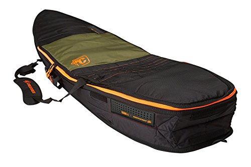 Creatures of Leisure Fish Travel Shortboard Bag Army Orange 6ft 7in