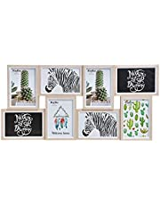 Home & Trends Cadre Photo pour 8 Photos de 10 x 15 cm en Bois Marron 58 x 27 x 2 cm
