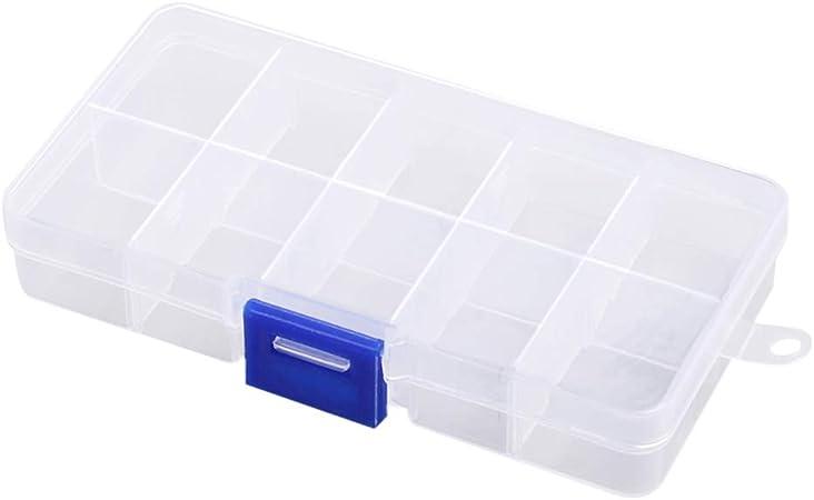 SUPVOX Caja de joyería de plástico Organizador de Cuentas Cajas de contenedores de Almacenamiento Desmontable para Accesorios para el hogar del Hotel 10 Piezas 10 Rejillas: Amazon.es: Hogar