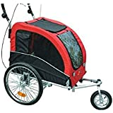Aosom Elite II Pet Dog Bike Bicycle Trailer Stroller Jogger w/ Suspension - Red