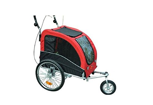 Aosom Elite II Pet Dog Bike Bicycle Trailer Stroller Jogger w/ Suspension Red