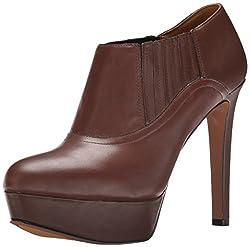Nine West Women's Disclosure Leather Boot, Dark Grey, 10.5 M US