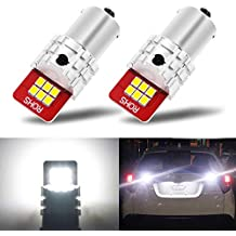 AUXITO 1156 7506 P21W BA15S LED Bulbs with Super Bright 2835 12-SMD Replace for DRL/Backup Reverse Light, 6000K Xenon White