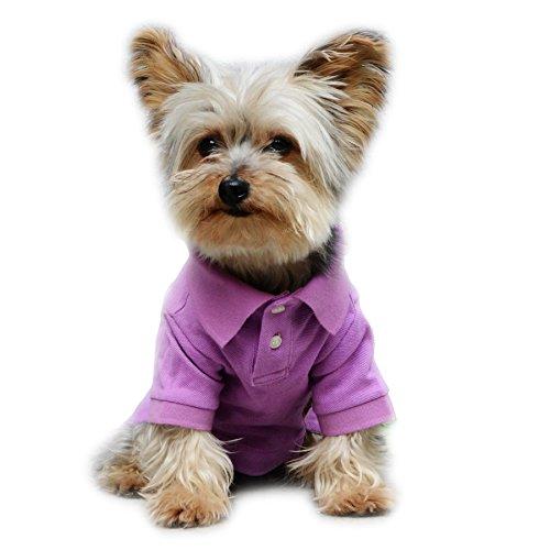 Pet Stretch Polo Shirt 2017 New Design (#12, Purple)
