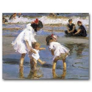 Children Playing At the Seashore 500 Piece Puzzle