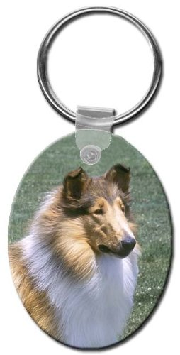 Canine Designs Collie Rough Oval Key Chain