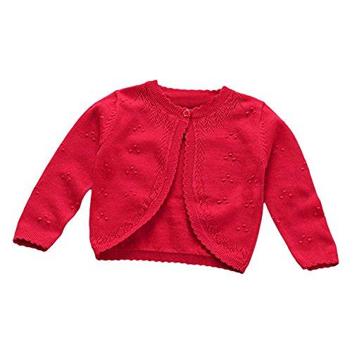 781a29b497eb Baby Toddler Girls Princess Cardigan Knit Sweaters Winter Button ...