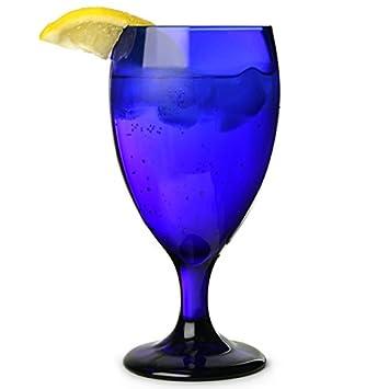 Cobalt Blue Iced Tea Glasses 16oz / 460ml   Set Of 4   Ice Tea Glasses