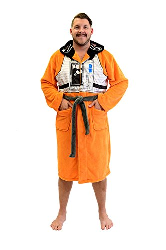 Star Wars X-Wing Fighter Pilot Fleece Costume Robe (One Size) Orange]()
