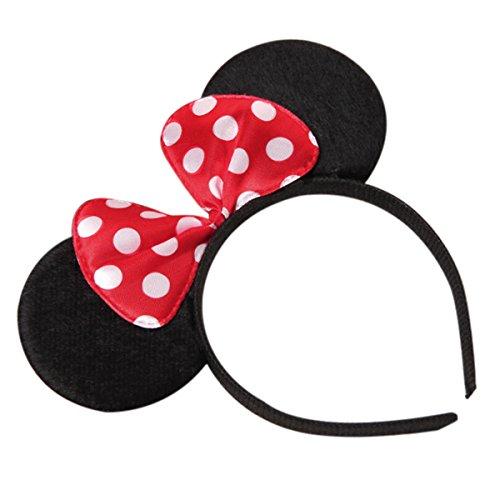 Minnie Costume Baby Girl Tutu Dress Mouse Ear Headband Polka Dot First Birthday Halloween Fancy Dress Up Princess Outfits 100 by OBEEII (Image #7)