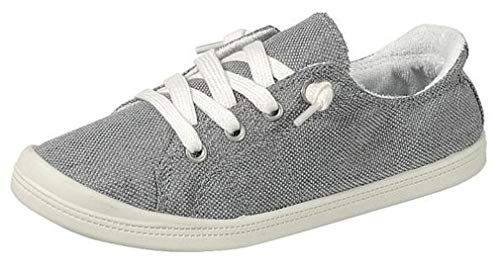 Forever Link Women's Classic Slip-On Comfort Fashion Sneaker, Grey, 10