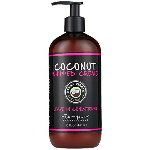 Renpure Coconut Whipped Creme Leave-In Conditioner, 16 oz (Best Gel For Curly Frizzy Hair)