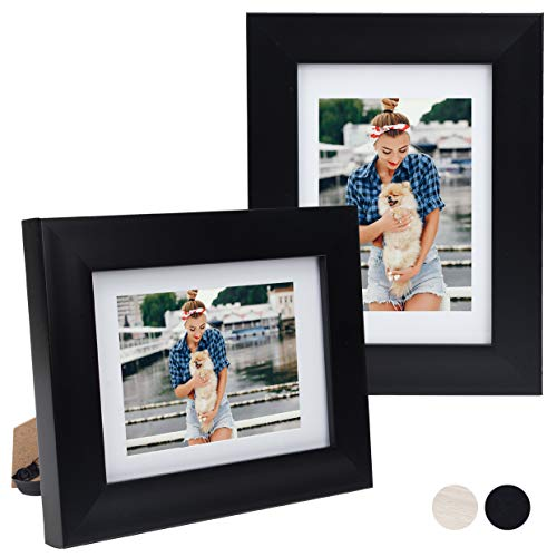8X10 Picture Photo Frame with Matted for 5X7 Light Wooden Color 1 Pack//4 Pack Table Top and Wall Mounting Display Beyond Your Thoughts Vertical or Horizontal