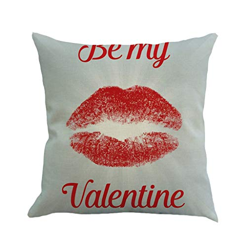 scamper Square Throw Pillow Covers Cushion Cover Valentine's Day Sofa Bedroom Deco Pillowcase DIY Flax Car Home 45X45cm (Pottery Christmas Barn Diy)
