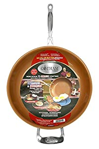 "Non-Stick Titanium Frying Pan, 12.5"", Brown"