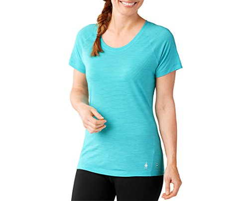 - SmartWool Women's Merino 150 Baselayer Pattern Short Sleeve Light Capri Shirt