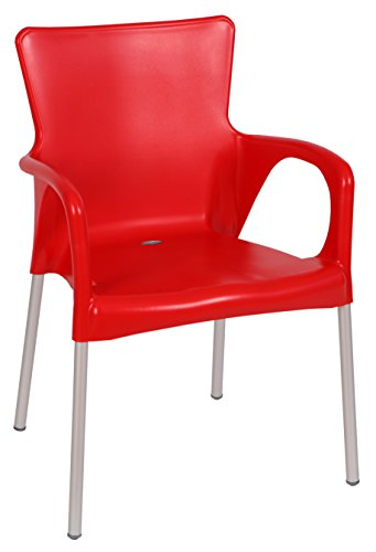 Adirondack Counter Chair (Tensai Ana Collection Wide Square Back Durable Plastic Chair - Red)