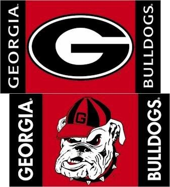 BSI NCAA Georgia Bulldogs Car Flag Combo Logo with Free Wall Bracket (1 flag; 2 (Georgia Bulldogs Ncaa Car Flag)