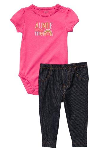 Carter's Auntie Loves Me Bodysuit Jegging Set (NB - 24M) (9 Months)