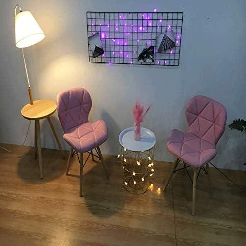 Jokeagliey Coiffeuse Nordique, Chaise de Maquillage, Table et Chaise beauté Minimaliste Moderne, siège rembourré Confortable siège de Bureau,Blue