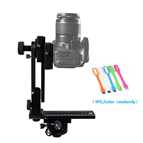 FOTOMATE 360 degree Panoramic Tripod Head Gimbal Bracket Kit Fit For Canon Nikon and Other DSLR Cameras+Huihuang USB LED Free Gift by Huihuang