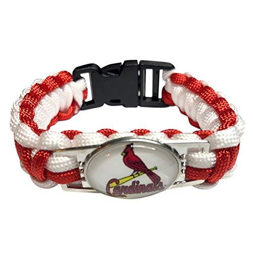 (MLB Major League Baseball Paracord Bracelet Wristband (St Louis Cardinals))