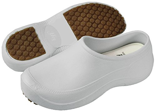 Hey Medical Uniforms Womens Lightweight White EVA Clogs, 7/8 M - Hey Uniforms