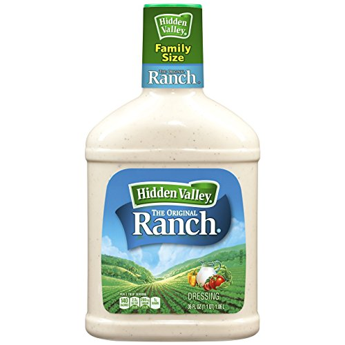 (Hidden Valley Original Ranch Salad Dressing & Topping, Gluten Free, Keto-Friendly - 36 Ounce Bottle)