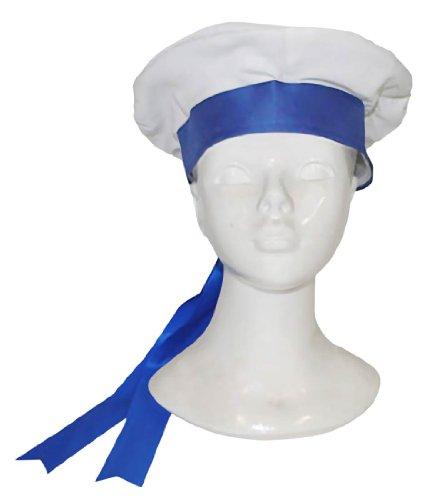 Funny Fashion Blue and White Seaman Hat - Adult Std.