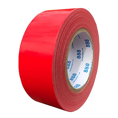 MG888 Red Colored Duct Tape 1.88 Inches x 60 Yards, Duct Tape for Crafts, DIY, Repairs, Indoor Outdoor Use -