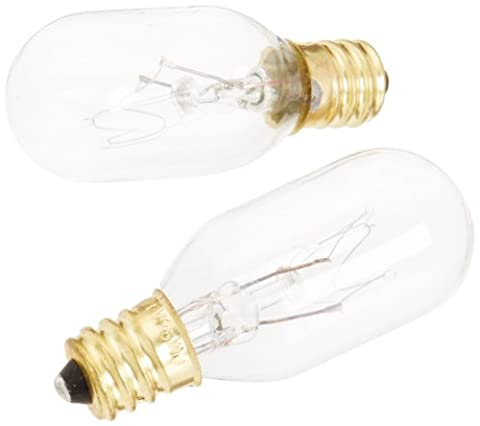 Jerdon JPT25W 25-Watt Replacement Light Bulbs for Lighted Mirrors, 2-Pack (25 Watt Type A Light Bulb)
